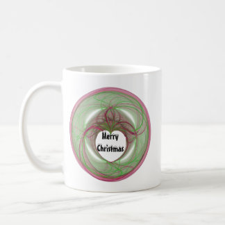 3D Red and Green Circle with Heart Opening Mug
