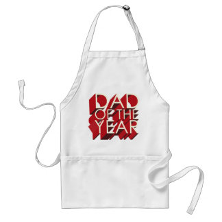 3D Red Shadow Dad of the Year Standard Apron