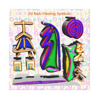 3d Reiki Healing Symbols Canvas Print