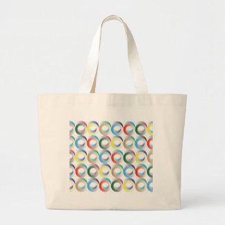3D Ring Pattern Canvas Bag