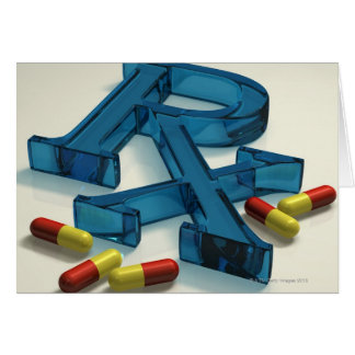 3D RX symbol with capsules Card