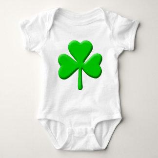 3d Shamrock Baby Bodysuit