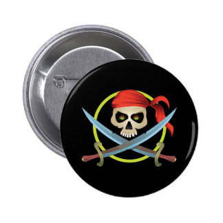 3D Skull and Crossbones Button