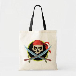 3D Skull and Crossbones Canvas Bags