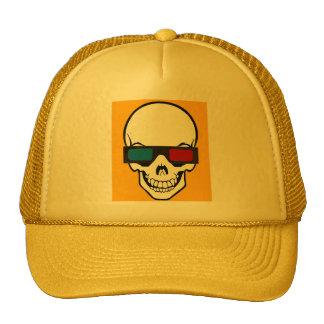 3d skull glasses hats
