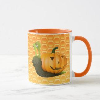 3d Snail Halloween Pumpkin Shell Mug