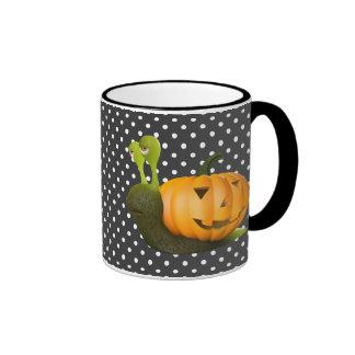 3d Snail Halloween Pumpkin Shell Ringer Mug