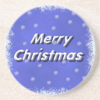 3D Snow Merry Christmas Coaster