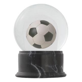 3D Soccerball Black White Football Snow Globe