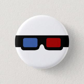 3D specs 3 Cm Round Badge