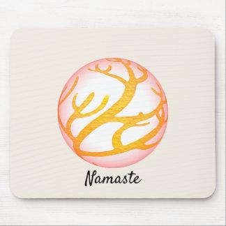 3D Sphere Eastern Design Namaste Mouse Pad