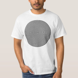 3D Spiral Optical Illusion T-Shirt