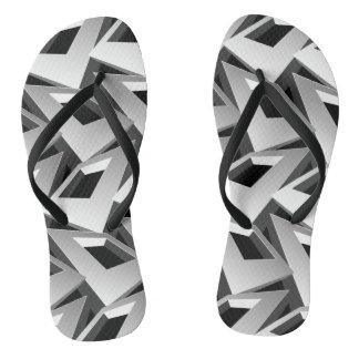 3D squares Thongs