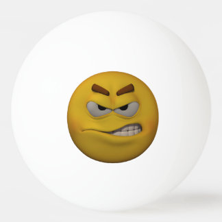 3D Style Angry Emoticon Ping Pong Ball