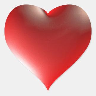 3D Style Heart Symbol Red Heart Sticker