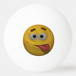 3D Style Playfull Emoticon Ping Pong Ball