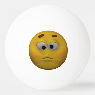 3D Style Sick Emoticon Ping Pong Ball