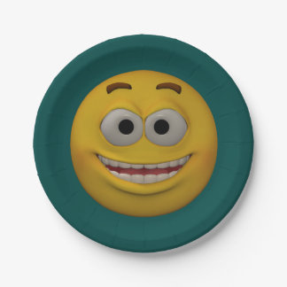 3D Style Smiley 2 7 Inch Paper Plate