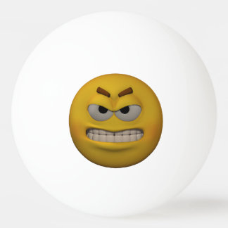 3D Style Very Angry Emoticon Ping Pong Ball