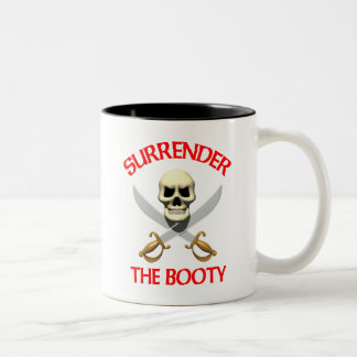 3D Surrender the Booty Coffee Mug