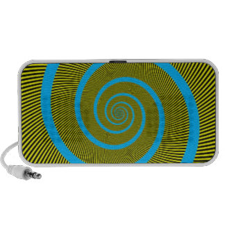 3D Swirl Moving Pattern Doodle Notebook Speakers