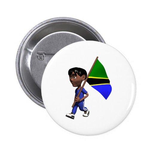 3D Tanzania Pins