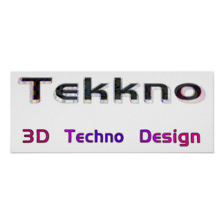 3d techno design 2 poster