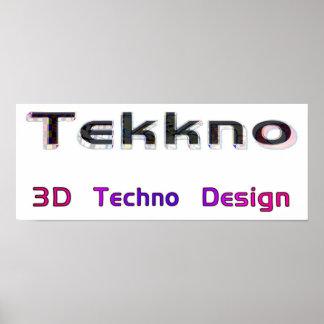 3d techno design 2 posters