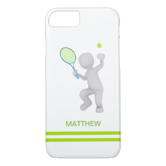3D Tennis Player Tennis Racket Ball Personalized iPhone 8/7 Case