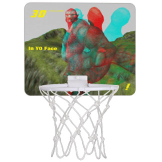 3D Troll IN Yo Face Mini Basketball Hoop
