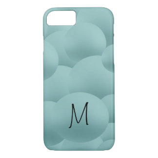 3d Turquoise Circles | Monogram iPhone 8/7 Case