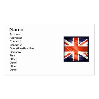3D UK flag Pack Of Standard Business Cards