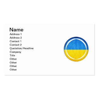 3D Ukraine flag Pack Of Standard Business Cards