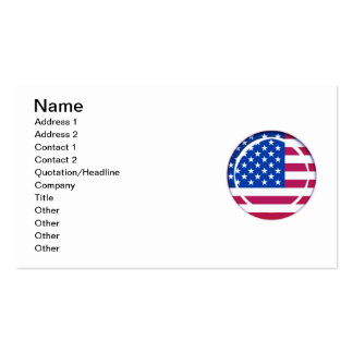 3D USA flag Pack Of Standard Business Cards
