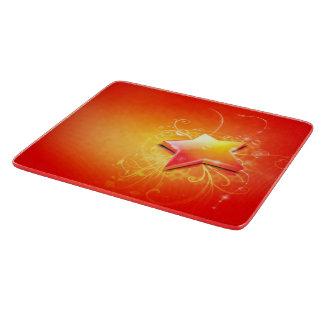 3d-very beautiful orange star swirl art cutting board