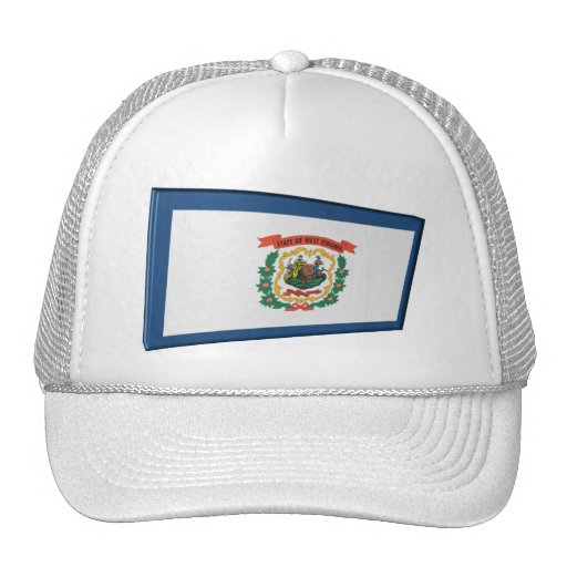 3D West Virginia State Flag Mesh Hat