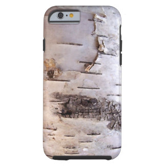 3D White Birch Bark Tough iPhone 6 Case