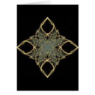 3D Wire Look Gold Diamond with Blue Center Card