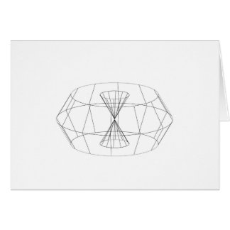 3d wireframe render object greeting card