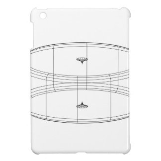 3d wireframe render object iPad mini cases