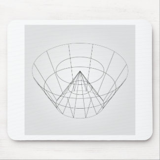 3d wireframe render object mouse pad