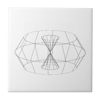 3d wireframe render object small square tile