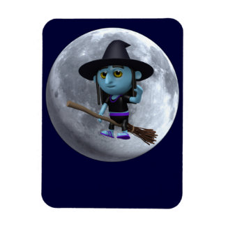 3d Witches moon Rectangular Photo Magnet