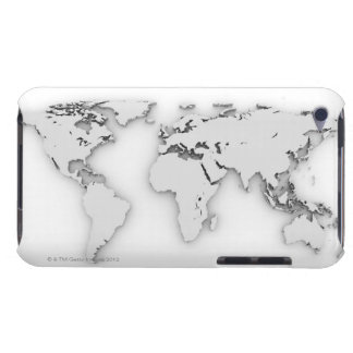 3D World map, computer generated image Barely There iPod Cover