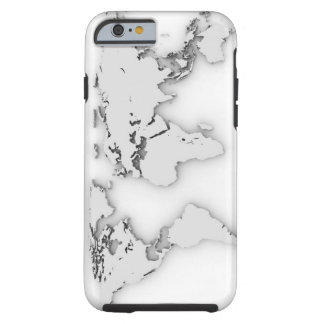 3D World map, computer generated image Tough iPhone 6 Case