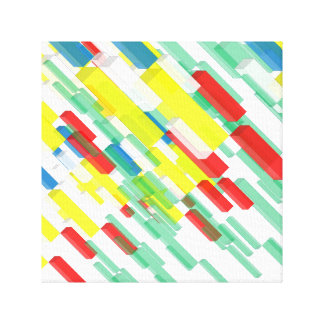 3D Yellow Colorful Rectangular Brick Block Canvas Gallery Wrap Canvas