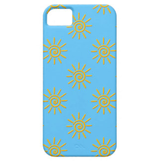 3D Yellow Sun Drawing Pattern iPhone 5 Case