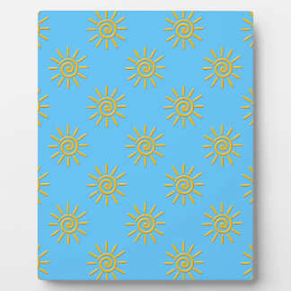 3D Yellow Sun Drawing Pattern Plaque