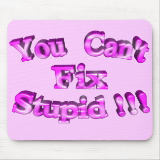 3D You Can't Fix Stupid !!! Mouse Pad