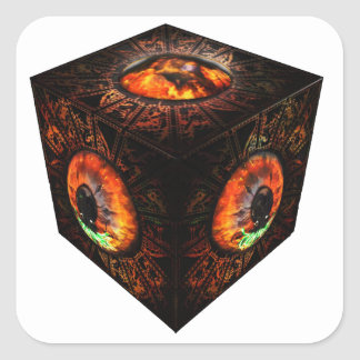 3dCubeOnly.gif Square Sticker
